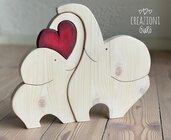 Elefantini in legno massello