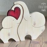 Elefantini in legno massello by Creazioni GiaRó  Ⓒ