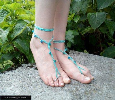 Cavigliera azzurro mare