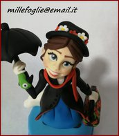 Decorazione/Cake Topper Mary Poppins in zucchero