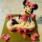 Cake Topper Minnie Rosa
