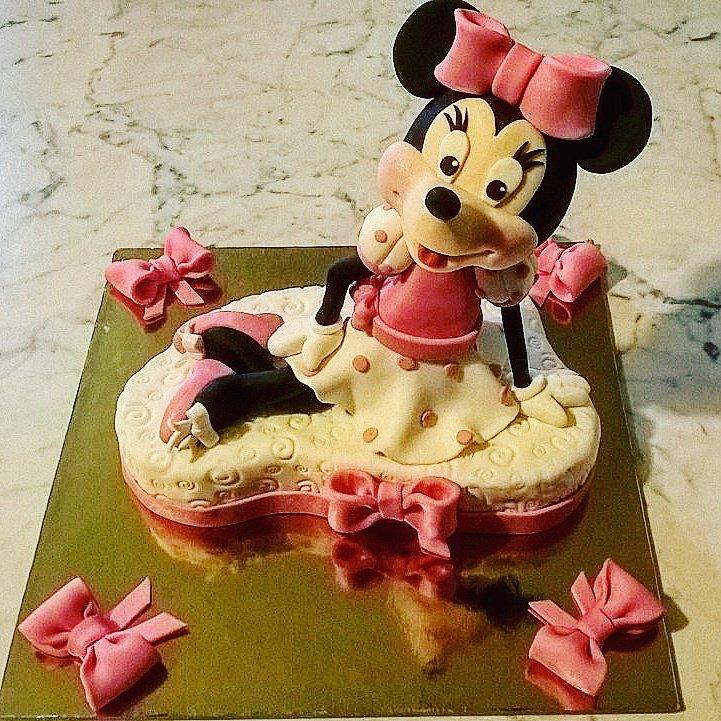 Cake Topper Minnie Rosa