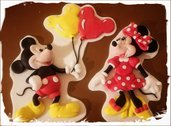 Cake Topper Topolino & Minnie 2D