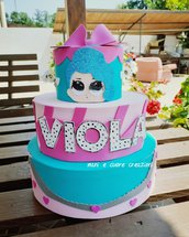 Torta LOL scenografica Compleanno Viola ❤