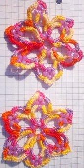 orecchini multicolor arancio