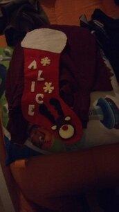 Calza natalizia personalizzata con nome