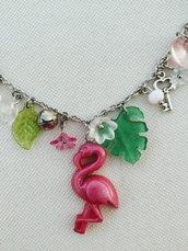 Shy flamingo necklace
