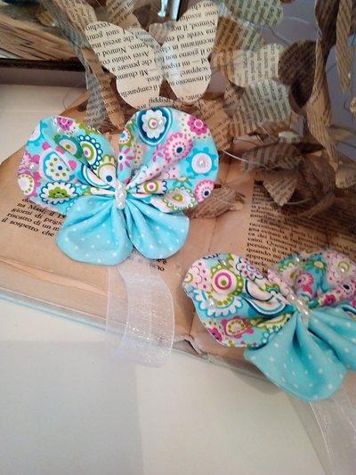 FERMA TENDA in stoffa coppia di farfalle