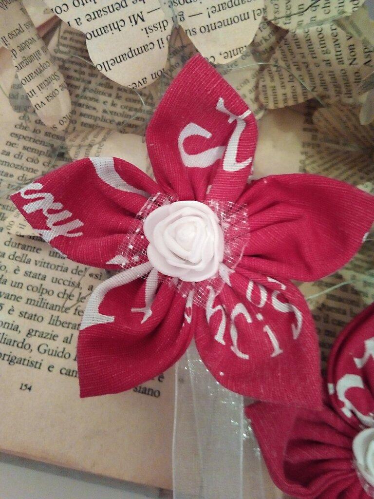FERMA TENDA calamita fiore rosso