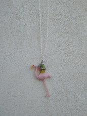 flamingo long necklace