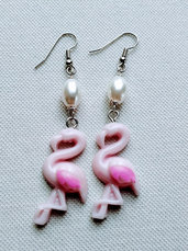 Orecchini Fenicottero Flamingo Earrings