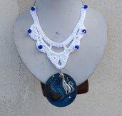 Crochet Necklace Cat