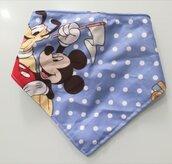 Bavaglino a triangolo/bandana neonato Mickey Mouse