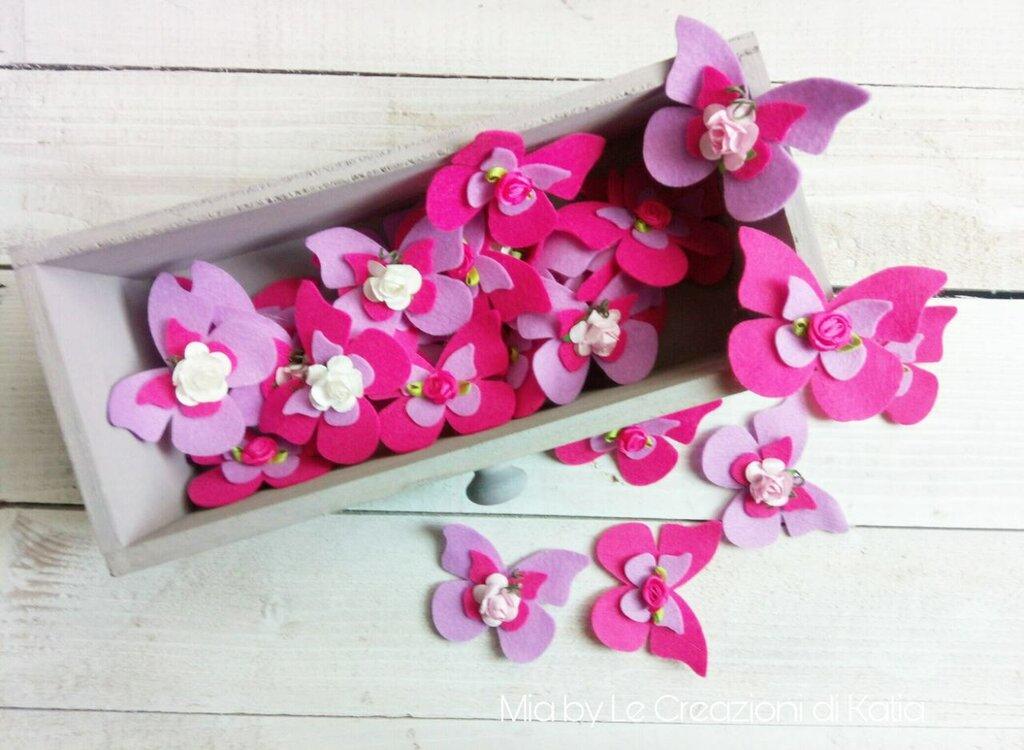 ultima collezione outlet in vendita grande sconto Farfalle in pannolenci con magnete