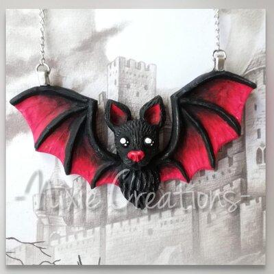 Collana Pipistrello - Rosso