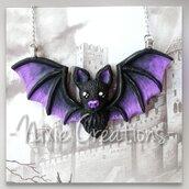 Collana Pipistrello - Viola