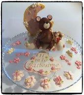 Cake Topper Orsetto e Luna per Battesimo