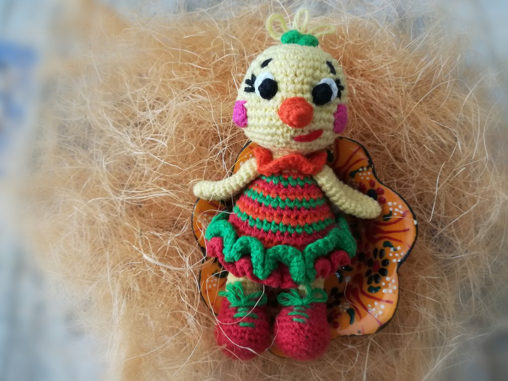 The chick Colorful § Pulcino Coloratino § Hand Knitted Toys