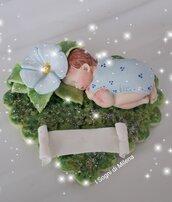 Bomboniere bebè su base prato