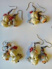 Orecchini pendenti gallinella