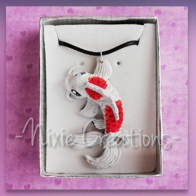 Collana Carpa Koi - Bianca Rossa