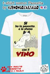 t-shirt uomo SE NON LO SAI SALLO-Pancetta