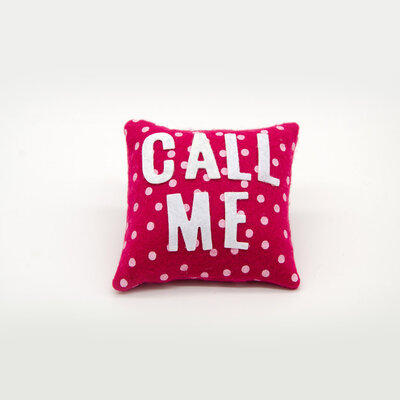 Mini cuscino call me, 9 x 9 cm