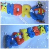 Banner nome bambino, decorazione cameretta, fiocco nascita, idea regalo