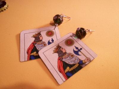 orecchini con carta da briscola