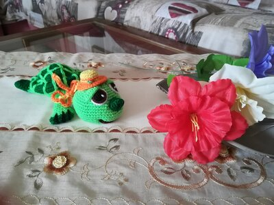 Miss Tara the little turtle  § La tartarughina signorina Tara § Hand Knitted Toys