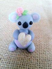 Koala in pasta di mais, piccolo cake topper, bomboniere