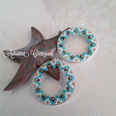 Orecchini Tamires realizzati in tessitura brick stick