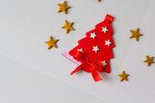Segnaposto tema Natale a forma di Albero di Natale in fimo personalizzabile