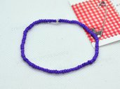 bracciale elastico perline uomo donna viola fiorentina