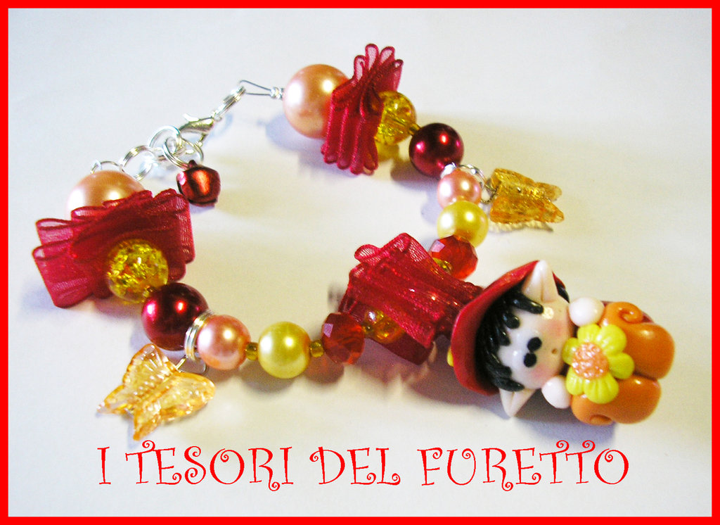 Bracciale Folletto Fimo cernit idea regalo