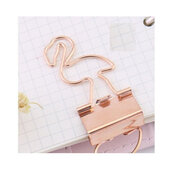 Rose gold metal paper clips, Paper clips, Stationery supplies, Rose gold metal binder clips