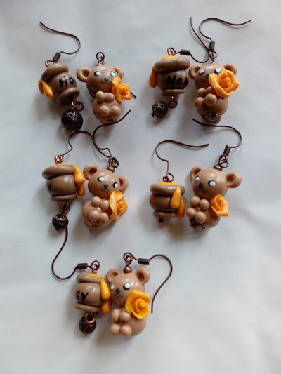 Orecchini orsetto miele