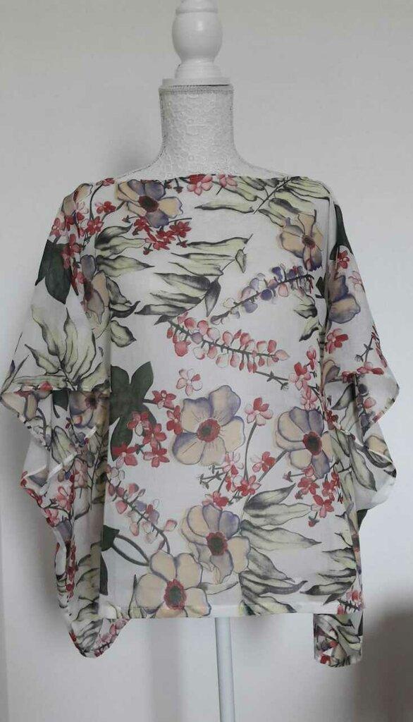 Camicetta leggerissima in batista cotone a fiori tipo kaftano sartoriale