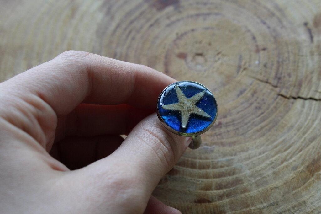 anello stella marina vera