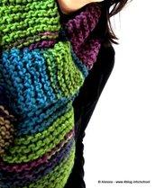 Pattern spiegazione per SASH-A - sciarpa-scaldacollo con un segreto, da  fare a maglia ai ferri - knit