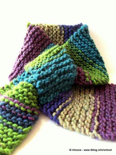 nuovo arrivo 1b597 941cc Pattern spiegazione per SASH-A - sciarpa-scaldacollo con un segreto, da  fare a maglia ai ferri - knit