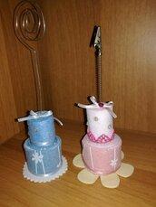 Tortina mini cake con clip porta foto
