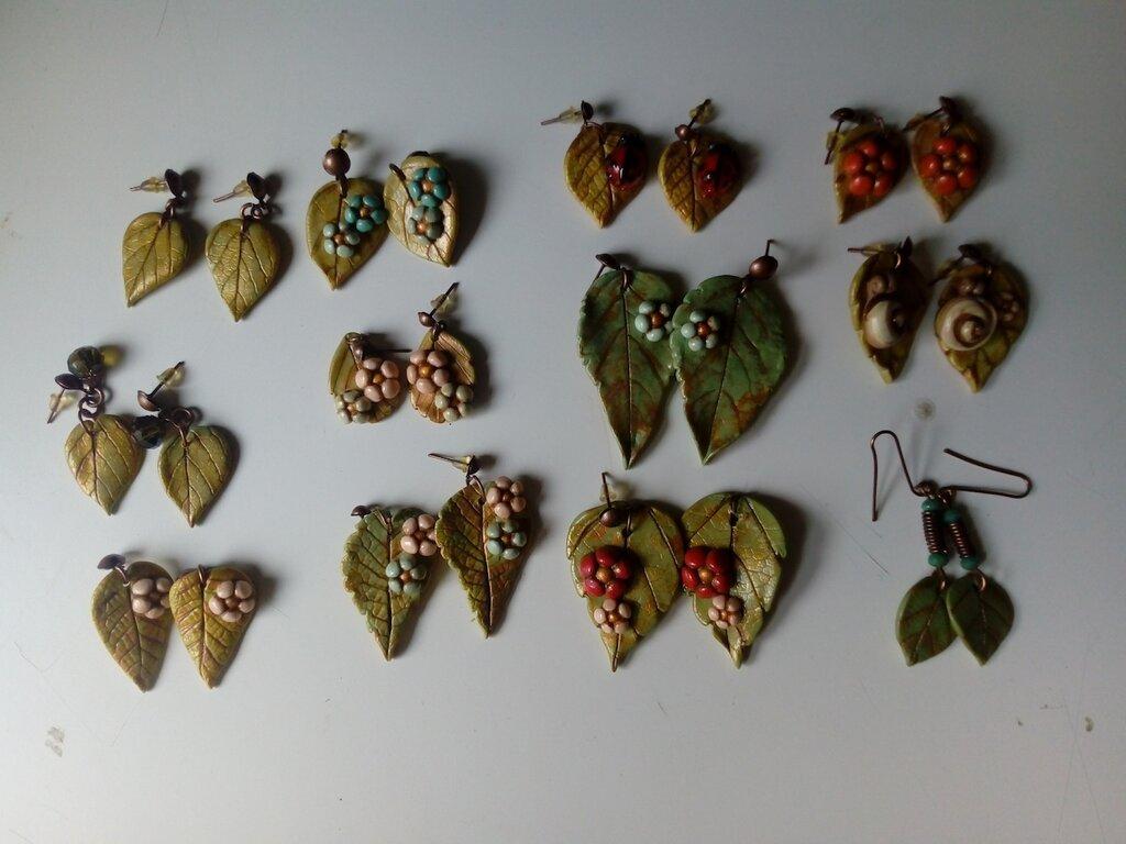 Orecchini pendenti foglie