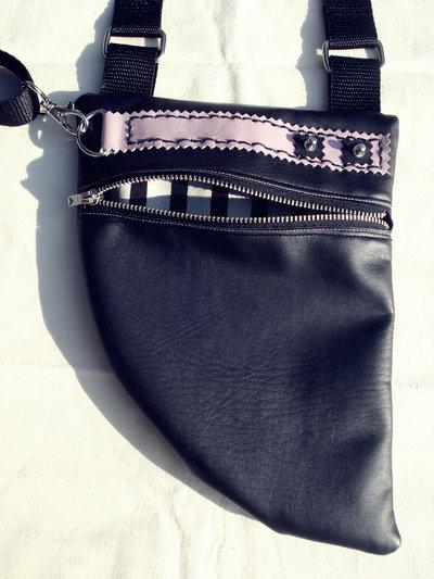 MooN bAg_holster similpelle nero+rosa