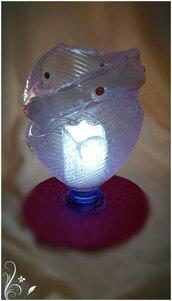 Portafiori-cioccolatini in plastica riciclata rosa con candela