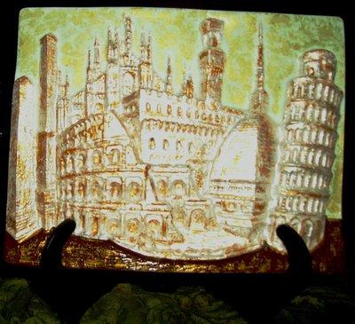 QUADRO IN CERAMICA DEI MONUMENTI ITALIANI