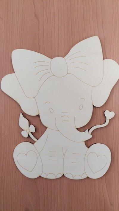 Elefantino in legno 40 cm