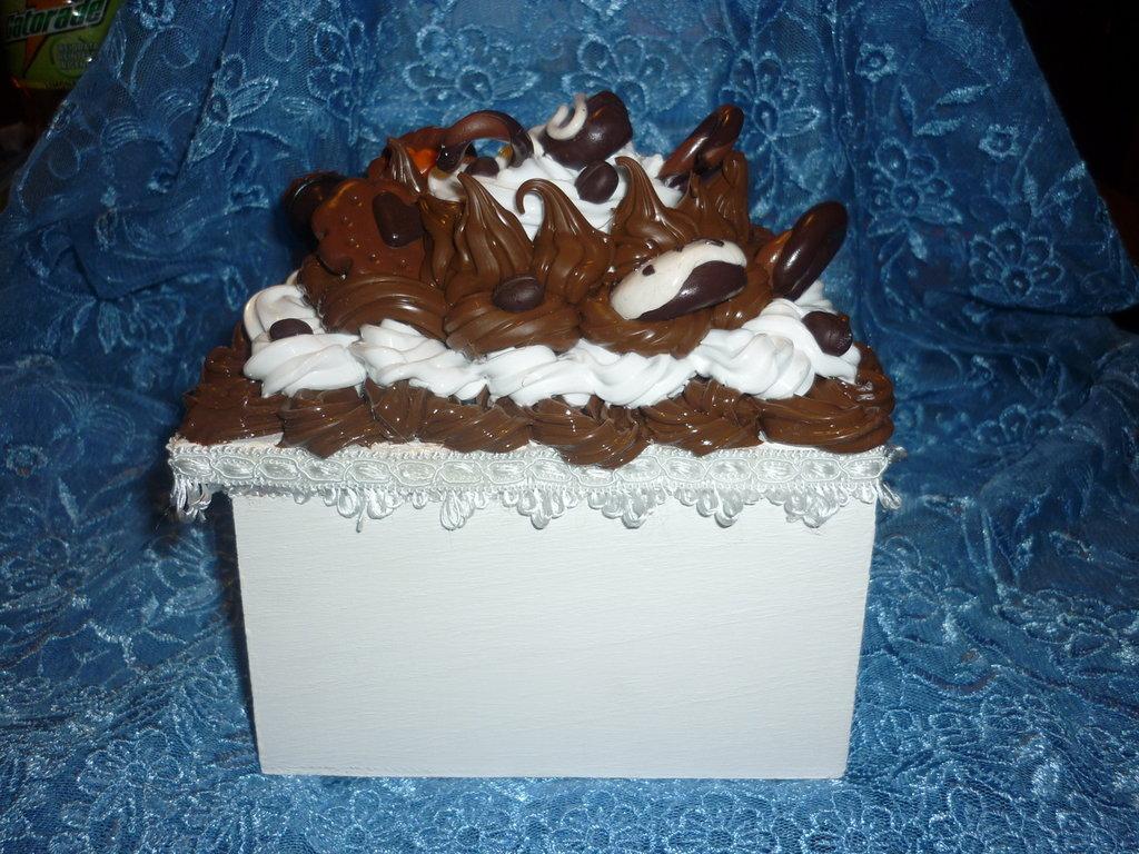 Scatola porta gioie Panna-cioccolato
