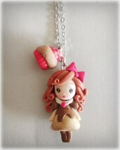 Collana Sweet Doll Cupcake rosso