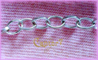 1 MT Catena anelli rimagliabili color argento catenina